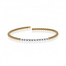 Simon G. 18k Yellow Gold Diamond Bangle Bracelet - MB1592-Y
