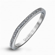 Simon G. 18k White Gold Diamond Wedding Band - MR1507