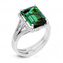 Simon G. 18k White Gold Diamond & Tourmaline Ring - MR2716