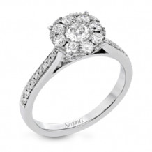 Simon G. 18k White Gold Diamond Engagement Ring - MR2680