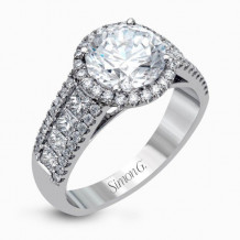 Simon G. 18k White Gold Diamond Engagement Ring - MR1903-A