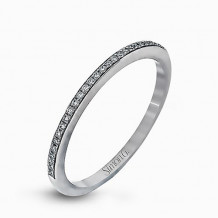 Simon G. 18k White Gold Diamond Wedding Band - MR1511