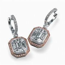 Simon G. 18k Two Tone Gold Diamond Earrings - ME2061