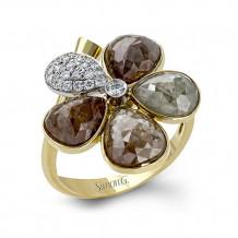 Simon G. 18k Two Tone Gold Diamond Ring - MR2429