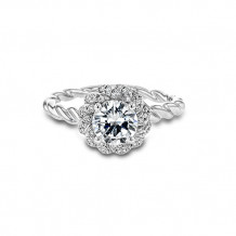 Simon G.  18k White Gold Diamond Halo Engagement Ring - LR1133