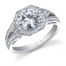 0.45tw Semi-Mount Engagement Ring With 2ct Round Head - sy442