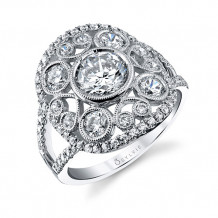 1.15tw Semi-Mount Engagement Ring With 1ct Round Head - s1238