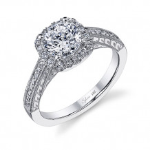 0.30tw Semi-Mount Engagement Ring With 1ct Round Head - sy984