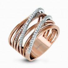 Simon G. 18k Rose Gold Diamond Ring - MR2328