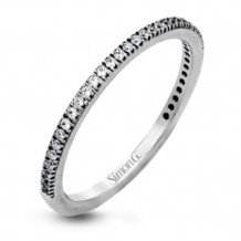 Simon G. 18k White Gold Diamond Wedding Band - PR108