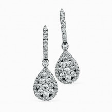 Simon G. 18k White Gold Diamond Earrings - LP4227