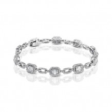 Simon G. 18k White Gold Diamond Bangle Bracelet - LB2060