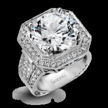 Simon G. 18k White Gold Diamond Engagement Ring - NR324