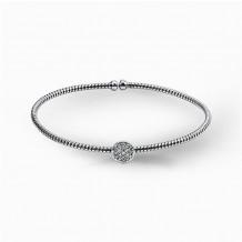 Simon G. 18k White Gold Diamond Bangle Bracelet - NB131
