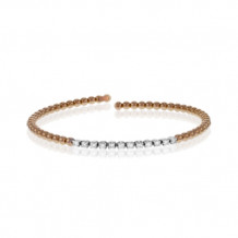 Simon G. 18k Rose Gold Diamond Bangle Bracelet - MB1592-R
