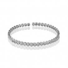 Simon G. 18k White Gold Diamond Bangle Bracelet - LB2063