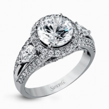Simon G. 18k White Gold Diamond Engagement Ring - MR1503