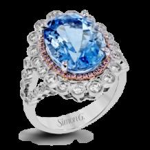 Simon G. 18k White Gold Diamond Ring - LR1023
