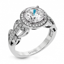 Simon G. 18k White Gold Diamond Engagement Ring - TR631