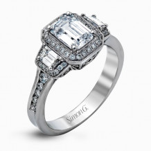Simon G. 18k White Gold Diamond Engagement Ring - MR2386