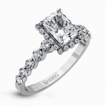 Simon G. 18k White Gold Diamond Engagement Ring - MR2088