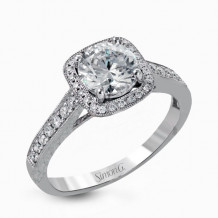 Simon G. 18k White Gold Diamond Engagement Ring - NR490
