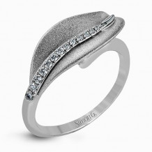 Simon G. 18k White Gold Diamond Ring - DR246