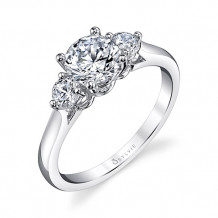 0.31tw Semi-Mount Engagement Ring With 1ct Round - s3001s