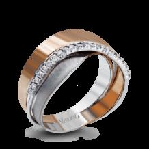 Simon G. 18k Two-Tone Gold Diamond Right Hand Ring - LP4344