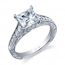 0.36tw Semi-Mount Engagement Ring With 2ct Princess Head - sy883