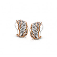 Simon G. 18k Two Tone Gold Diamond Earrings - ME1924