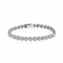 Simon G. 18k White Gold Diamond Bracelet - MB1575