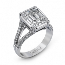 Simon G. 18k White Gold Diamond Engagement Ring - MR2020