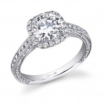 0.73tw Semi-Mount Engagement Ring With 1.5ct Head 3/4 Way - sy652