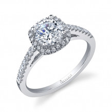 0.41tw Semi-Mount Engagement Ring With 6X5 Cushion Head - sy590