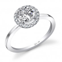 0.14tw Semi-Mount Engagement Ring With 3/4tw Round Head - sy293 rd