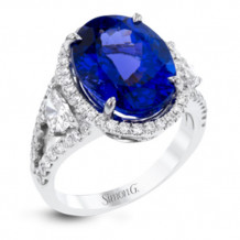 Simon G. 18k White Gold Diamond & Gemstone Ring - R9269
