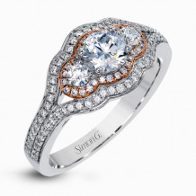 Simon G. 18k White Gold Diamond Engagement Ring - MR2623