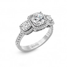 Simon G. 18k White Gold Diamond Engagement Ring - MR2080