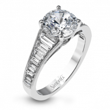 Simon G. 18k White Gold Diamond Engagement Ring - MR2358