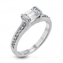 Simon G. 18k White Gold Diamond Engagement Ring - MR2705
