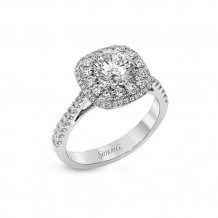 Simon G. 18k White Gold Diamond Halo Engagement Ring - MR2827-A