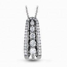 Simon G. 18k White Gold Diamond Pendant - MP1795