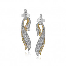 Simon G. 18k White Gold Diamond Earrings - DP255
