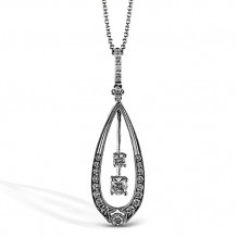 Simon G. 18k White Gold Diamond Pendant - TP261/400581