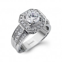 Simon G. 18k White Gold Diamond Engagement Ring - NR109