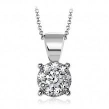 Simon G. 18k White Gold Diamond Pendant - MP1832