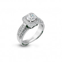 Simon G. 18k White Gold Diamond Engagement Ring - NR453