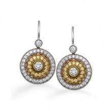 Simon G. 18k Two Tone Gold Diamond Earrings - PE102