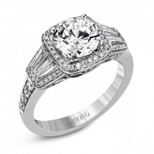 Simon G. 18k White Gold Diamond Engagement Ring - MR2523